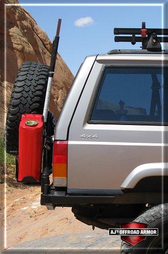 Jeep Cherokee Xj >> AJ's Offroad Armor Rear Tanker Tire Carrier Bumper