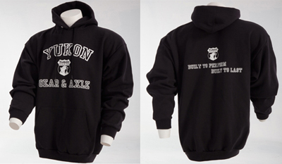 Pull-over hoodie, size large.