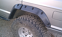 V2 Jeep Cherokee XJ, 97-01 4 Door, Quarter Folded BLACK TEXTURE