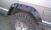 V2 Jeep Cherokee XJ, 97-01 4 Door, Quarter Folded BLACK TEXTURE